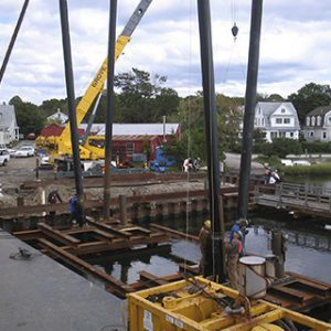 Workers Replacing Shiplift Near Bridgeport, CT