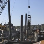 Heavy Construction Equipment Used During Shiplift Replacement