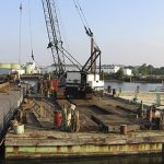 Marine Construction Equipment on Dock