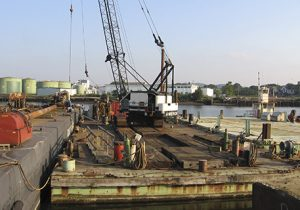 Marine Construction Equipment on Dock