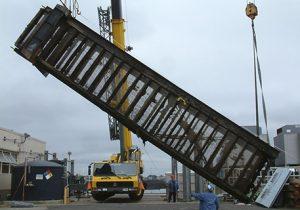 heavy construction work for generator station in Bridgeport, CT